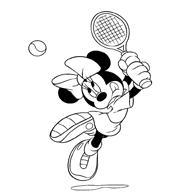 Kleurplaat Mickey Is Aan Het Skeeleren Op De Weg Kleurplaatjecom