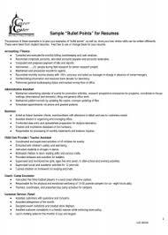 Unique Point Of Sale Resume Sample Sample Resume Bullet Points