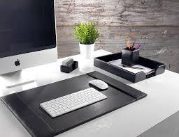 bonded leather desk set 6 piece pink. Classic Black Bonded Leather Four Piece Desk Organiser Set 6 Pink