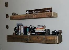 reclaimed wood floating shelves canada shelf pallet by