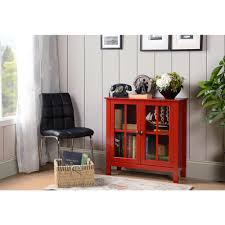 home and office storage. OS Home And Office Red Glass Door Accent Display Cabinet Storage P