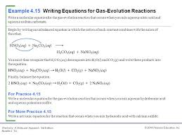 example 4 15 writing equations for gas evolution reactions