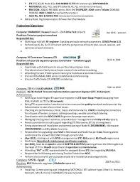 Optical Engineer Resume Optical Engineer Resume Example Sample