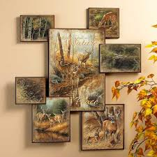 photo collage wall art whitetail deer wall collage wall art wildlife wall decor wild wings