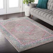 rugs  pale pink area rug awesome blush pink rug kamil blue f
