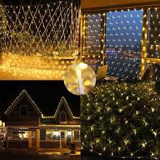 Battery Net Lights Battery Powered Net Lights 4 9ft X 4 9ft 100 Led Net Mesh Tree Wrap Lights Ambience Decorative Fairy Lights String For Balcony Deck Yard Pergola