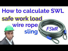 How To Calculate Safe Working Load Of Wire Rope Slings Swl Of Wire Rope Safety Mgmt Study