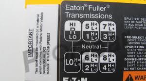 18 Speed Shift Pattern Stunning FULLER TRANSMISSION 48 Speed Shift Pattern Eaton RTLO 48 Speed