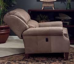 leather tilt back chair matching ottoman shown