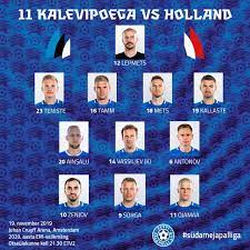 11 ตัวจริง ฮอลแลนด์ พบ เอสโตเนีย ยูโร 2020 รอบคัดเลือก - ลิงค์ดูบอล    Thaiger ข่าวไทย