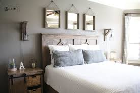 I'm so happy with my new DIY Rustic Modern King Bed! You can find out more  about the pieces in this room below!