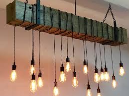 modern rustic lighting. custom made reclaimed barn beam chandelier light fixture modern industrial rustic lighting