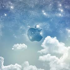 cool apple logos in space. cool apple logos in space