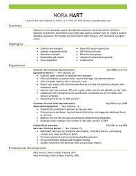 Entry Level Customer Service Representative Resume Gentileforda Com