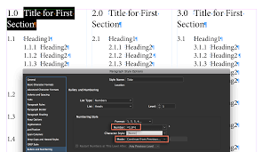 Adobe Indesign Numbering Chapters Subheads Tables Figures