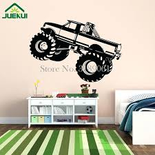 monster jam wall decals monster truck car wall stickers for baby room boy playroom wall monster truck wall decals canada