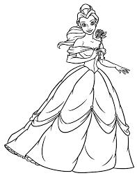 Small Picture Fancy Princess Belle Coloring Pages 66 For Your Free Colouring
