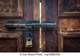 old door lock with key csp16665163