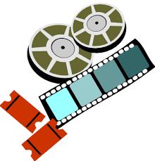 Image result for clip art movie film