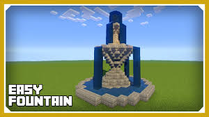 Minecraft Water Fountain Designs Minecraft How To Build A Fountain 2 Tutorial Easy Survival Minecraft Build