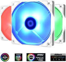 <b>IDCooling XF-12025 RGB TRIO</b> Snow White RGB LED Case Fan ...