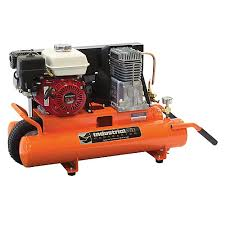 industrial compressor. 8 gallon portable gas-powered wheelbarrow air compressor industrial
