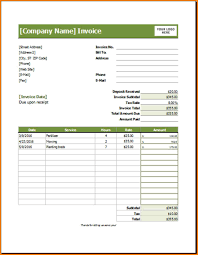 Lawn Care Invoice Template Excel Service Examples Free Microsoft