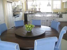 round table with lazy susan dining room contemporary with