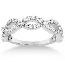 infinity diamond band. twisted infinity semi-eternity diamond band platinum (0.60ct)