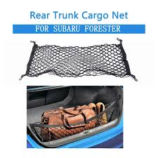 For Subaru Forester <b>Rear Trunk Boot Cargo Net</b> Mesh Storage ...
