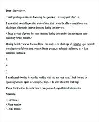 Examples Of Thank You Emails Interview Thank You Letter Template 8 Letters Free Sample Example