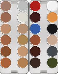 Supracolor Color Chart Supracolor Palette 24 Colors Kryolan Professional Make Up