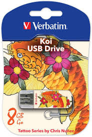 <b>USB флешка Verbatim</b> Mini Tattoo Edition <b>8Gb</b> (с рисунком)