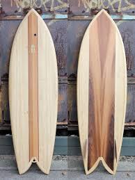 custom made hollow wooden surfboard