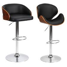 swivel bar stools. Image Is Loading Barstool-Chair-Walnut-Bentwood-Faux-PU-Leather-Swivel- Swivel Bar Stools (