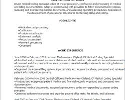 69 Medical Billing And Coding Resume Sample Clinical Coding