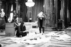 Dresd cutting <b>flowers in the</b> build up to the Commonwealth Fashion ...