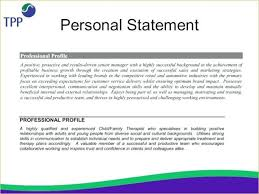 Resumes Personal Statements 11 Example Personal Statement Irpens Co