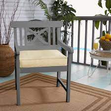 seat cushion in dupione sand