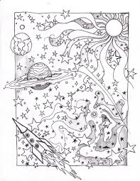 Small Picture Space Coloring Sheets