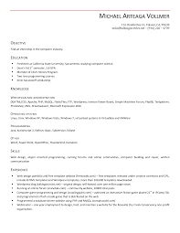 Resume Examples, Open Office Resume Template Objective Education Knowledge  Web Design And Administrative Operating System