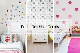polka dot decals for kids room walls