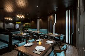 restaurant dining room design. A 128sqft Of Waiting Area, 1370sqft Restaurant Dining Space With 48sqft Mocktail Bar,52sqft Common Wash Basin And Service Passage Area,542sqft Room Design B