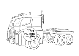 Small Picture Optimus Prime Bot Coloring Pages For Kids Printable Free Rescue
