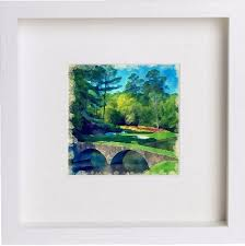 wall art watercolour print of golf augusta national golf course with stylish contemporary 23x23cm on golf wall art uk with wall art watercolour print of golf augusta national golf course