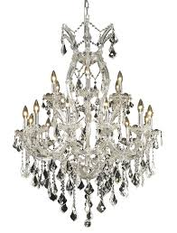 elegant lighting 2800d32c rc 2800 maria theresa collection chandelier d 32in h 42in
