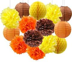 Flower Paper Lanterns Amazon Com Wcaro Thanksgiving Decorations Fall Party