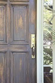 refinishing front doorFall Front Door Makeover