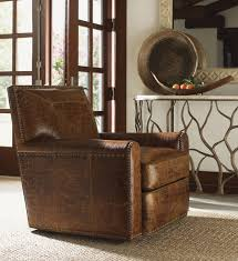 Leather Swivel Chairs For Living Room Lexington Leather Stirling Park Leather Swivel Chair Lexington