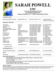Theatre Resume Template Extraordinary Musical Theater Resume Template Beautiful Of Theatre Commonpence Co